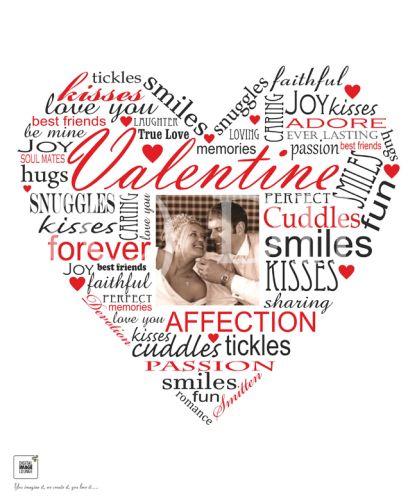 Valentine Photo Typography Print