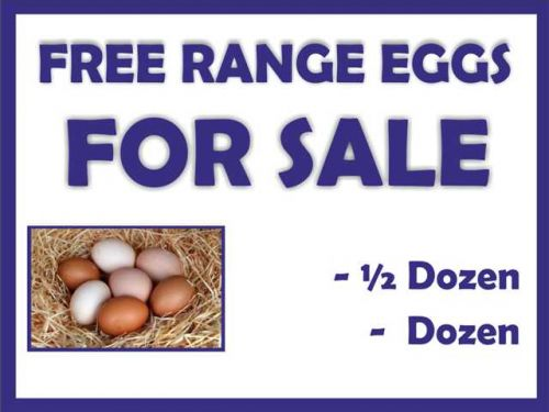 Eggs For Sale Sign